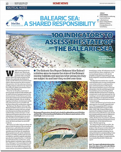 Marilles Fundation - 100 indicators to assess the state of the balearic sea