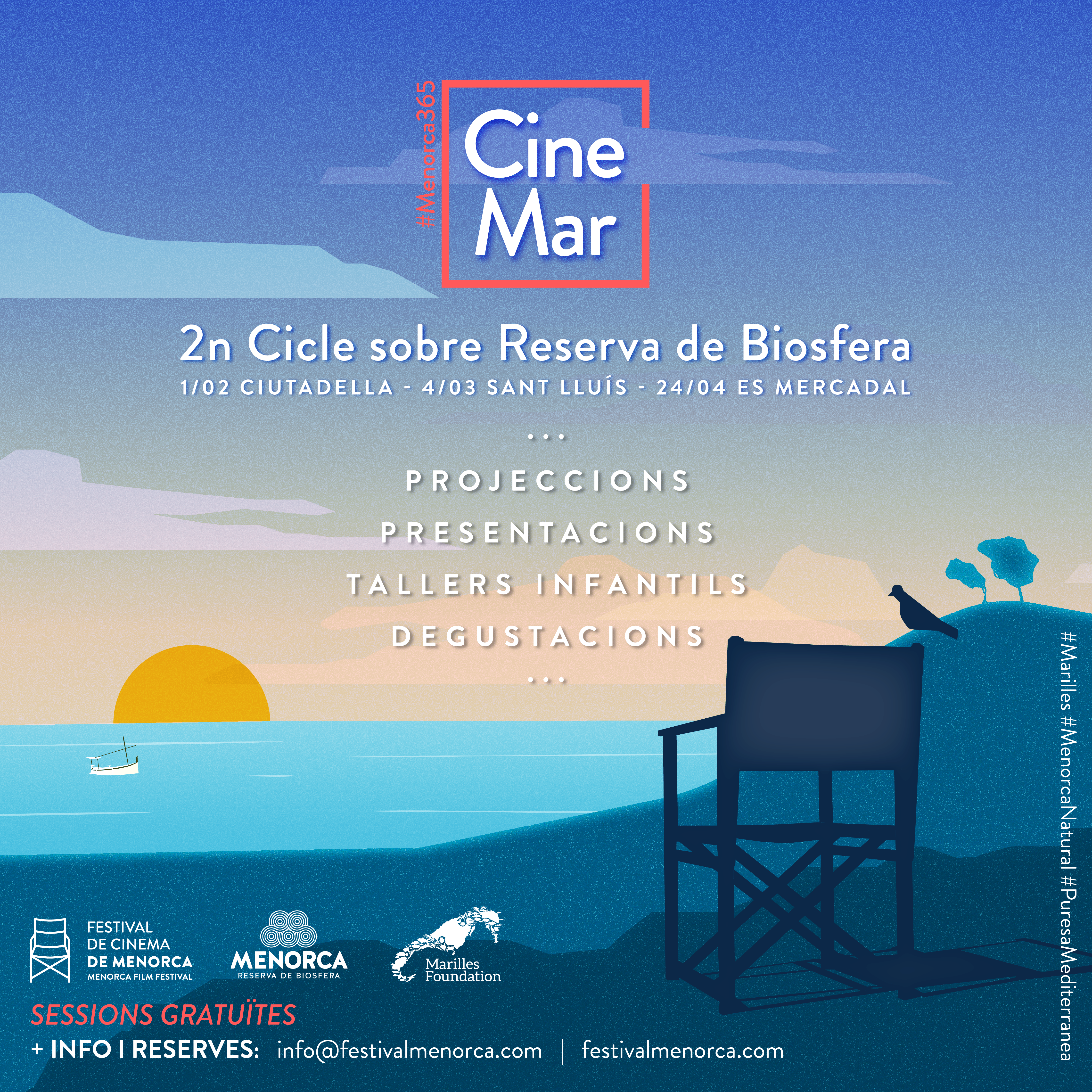 The sea plays a leading role in the new Reserva de Biosfera film cycle