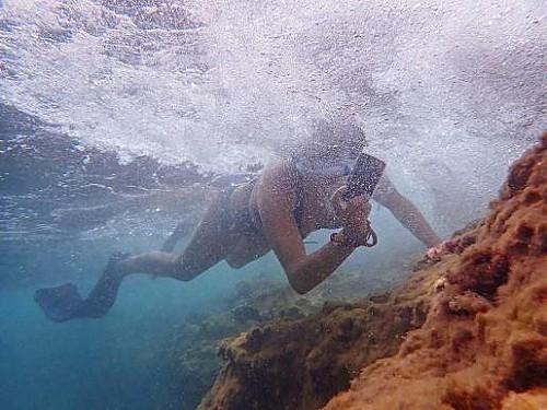 Marilles Fundation - Veinte personas participan en el taller de foto submarina en apnea impartido por AFONIB